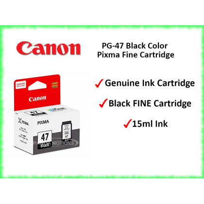 Canon PG-47 Black Color Pixma Fine Cartridge