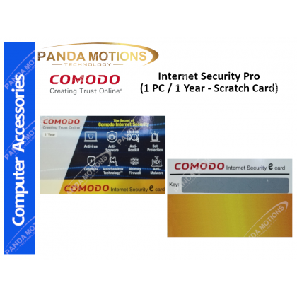 Comodo Internet Security Pro (1 PC / 1 Year - Scratch Card)