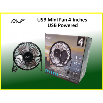 AVF USB Mini Fan 4-inches USB Powered