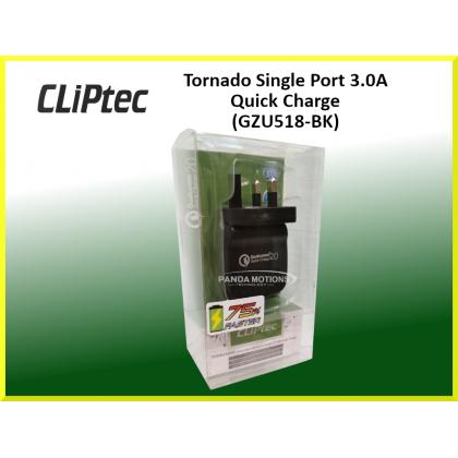 CLiPtec Tornado Single Port 3.0A Quick Charge (GZU518-BK)