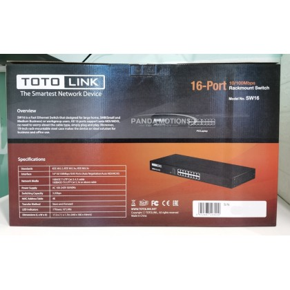 Totolink 16-Port 10/100Mbps Rackmount Switch (SW16)