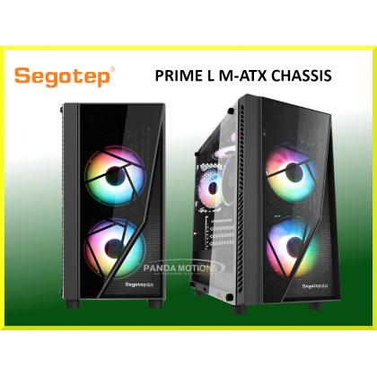 Segotep Prime L M-ATX Tempered Glass Casing (Black)