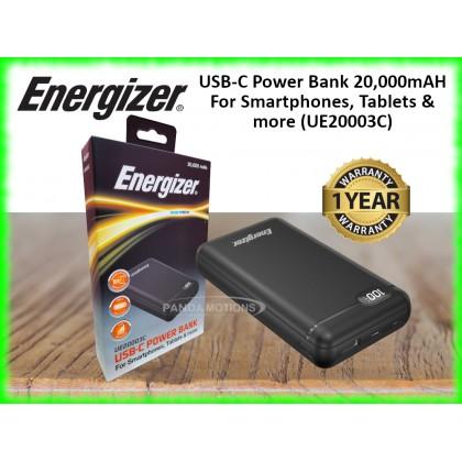 Energizer USB-C Power Bank 20,000mAH For Smartphones, Tablets & more (UE20003C)