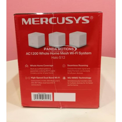 Mercusys AC1200 Whole Home Mesh Wi-Fi System Halo S12 (3-pack)