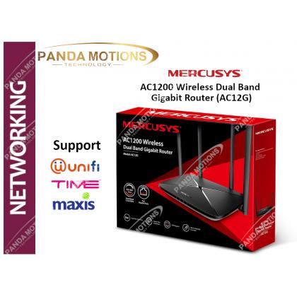 Mercusys AC1200 Wireless Dual Band  Gigabit Router (AC12G)