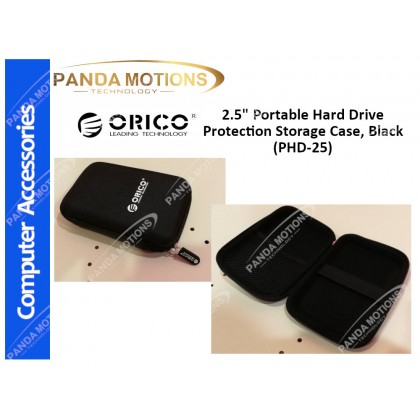 "Orico 2.5"" Portable Hard Drive Protection Storage Case, Black (PHD-25)"
